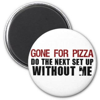 Ido para la pizza iman para frigorífico