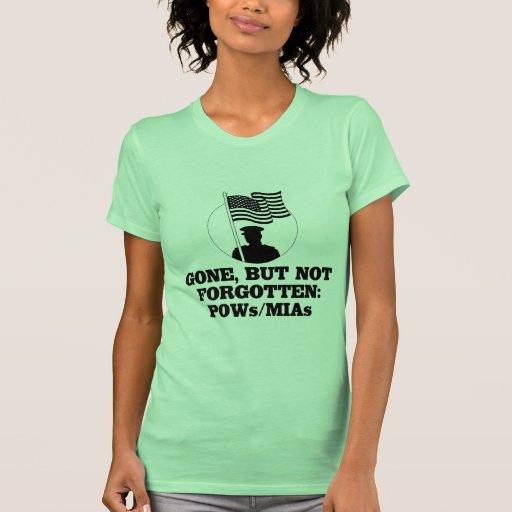 Ido, pero no olvidado: POWs/MIAs Camiseta
