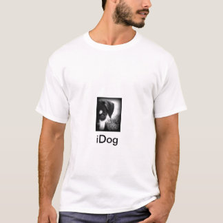 iDog B/W Puppy Face Men's T-shirt