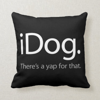 iDog-white.ai Throw Pillow