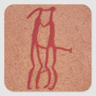 Idol couple square sticker