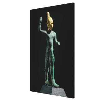 Idol of the storm god Baal from Syria Bronze Age Canvas Print
