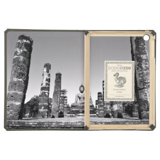 Idol Themed, A Large Statue Of A God Next To Stone Cover For iPad Air