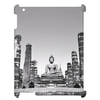 Idol Themed, A Large Statue Of A God Next To Stone Cover For The iPad