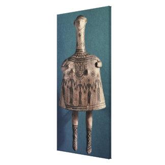 Ídolo de Bell de Thebes Boeotia c 700 A C Impresión En Lona