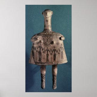 Ídolo de Bell de Thebes Boeotia c 700 A C Posters