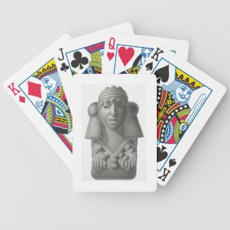 Ídolo de piedra de dios Cocijo, placa de la lluvia Baraja Cartas De Poker