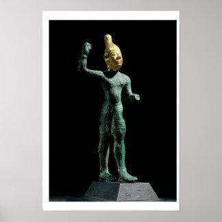 Ídolo del Baal de dios de la tormenta de Siria e Posters