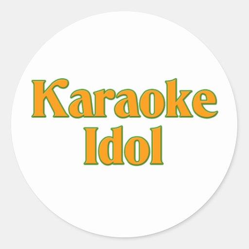 Ídolo del Karaoke Pegatina Redonda