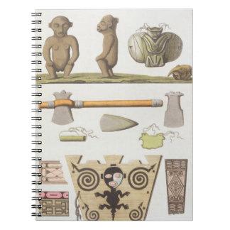 Ídolos del Caribbeans (grabado del color) Cuaderno