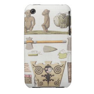 Idols of the Caribbeans (colour engraving) Case-Mate iPhone 3 Cases