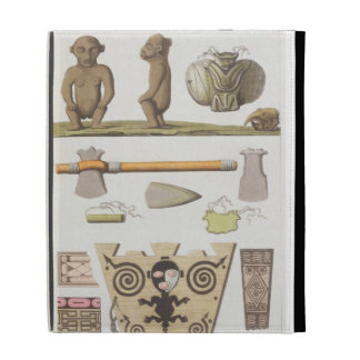 Idols of the Caribbeans (colour engraving) iPad Folio Covers