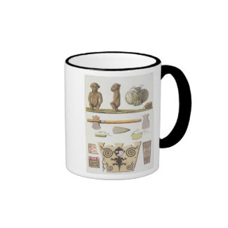 Idols of the Caribbeans (colour engraving) Mugs