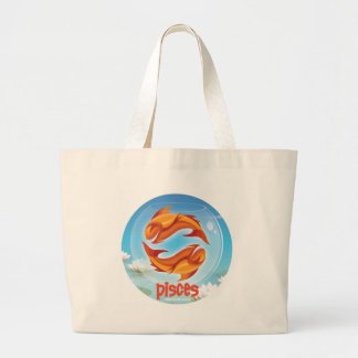 Idolz Pisces Circle Tote Bag