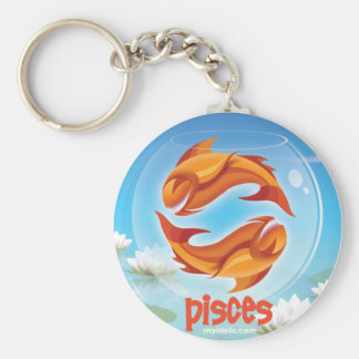 Idolz Pisces Circle Keychain