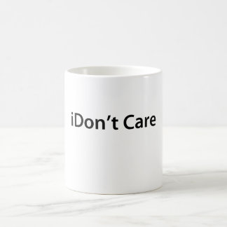 iDon't Care Classic White Coffee Mug