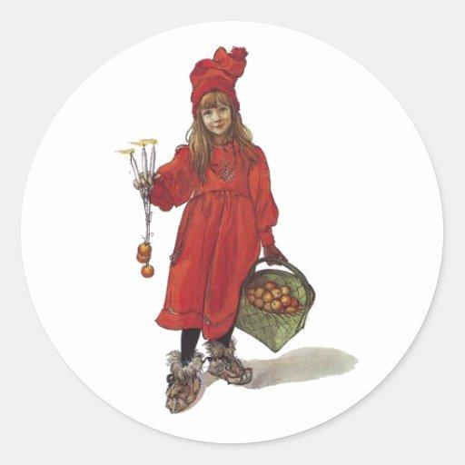 Iduna y las manzanas mágicas pegatina redonda