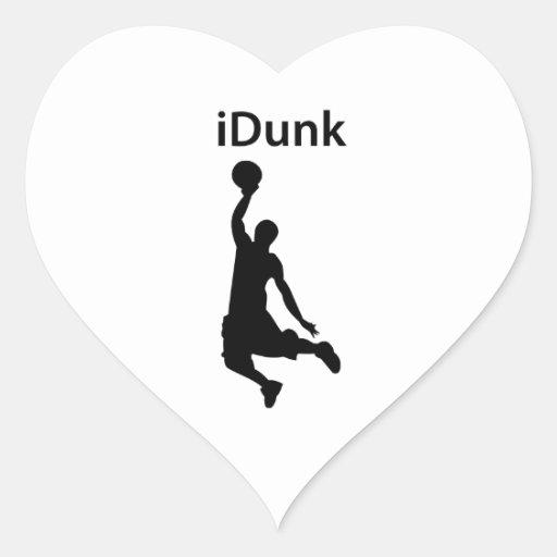 iDunk Pegatina En Forma De Corazón