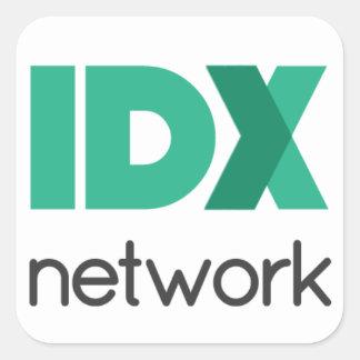 IDXnetwork apiló el logotipo Pegatina Cuadrada