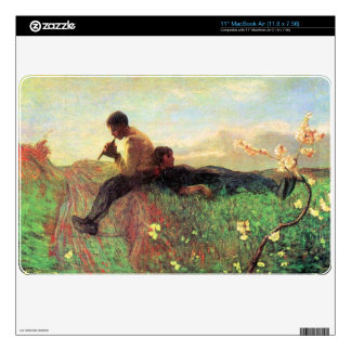 Idyl by Giovanni Segantini Decal For MacBook