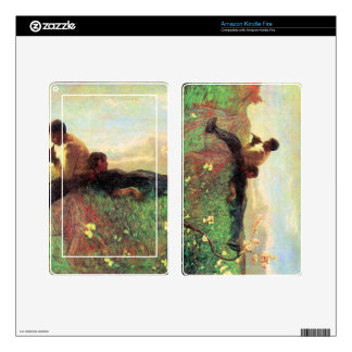 Idyl by Giovanni Segantini Skins For Kindle Fire