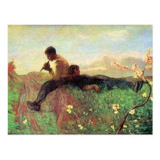 Idyl de Giovanni Segantini Tarjeta Postal