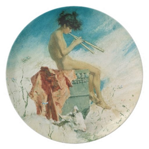 Idyll, 1868 (w/c on paper) party plate