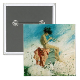 Idyll, 1868 (w/c on paper) pinback button