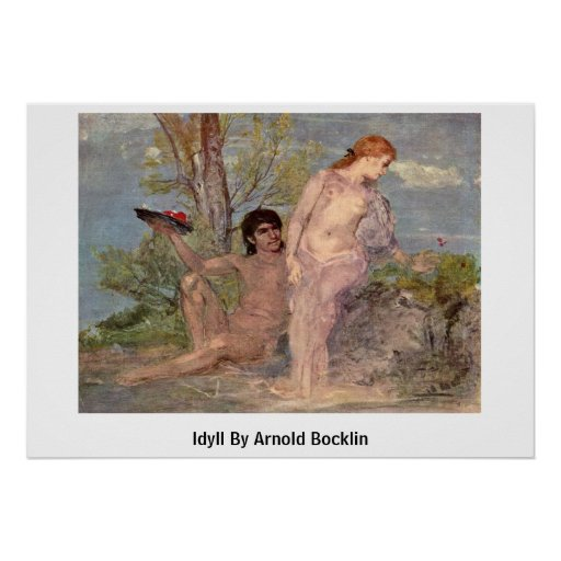 Idyll By Arnold Bocklin Posters