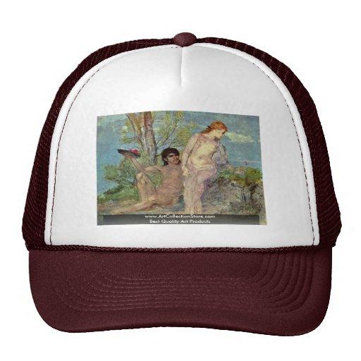 Idyll By Böcklin Arnold Trucker Hat