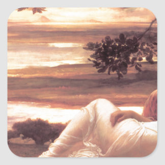 Idyll by Frederic Leighton Square Sticker