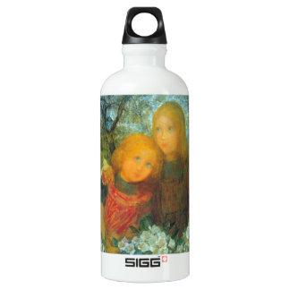 Idyll by Piet Mondrian Aluminum Water Bottle