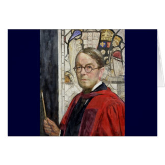 Idyll Pastor by Stained Glass Card