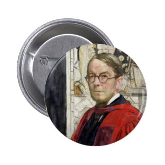 Idyll Pastor by Stained Glass Pinback Button