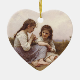 Idylle Enfantine (A Childhood Idyll) Ceramic Ornament