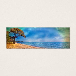 Idyllic Beach View Mini Business Card
