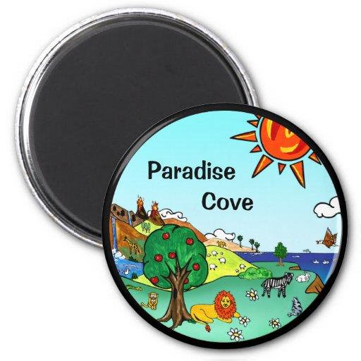 Idyllic Children's Landscape -- Paradise Binder 2 Inch Round Magnet