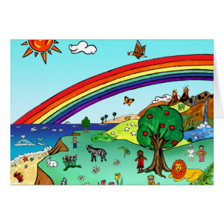 Idyllic Children's Landscape -- Paradise Binder Card