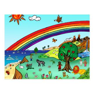 Idyllic Children's Landscape -- Paradise Post Cards