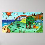 Idyllic Children's Landscape -- Paradise Poster