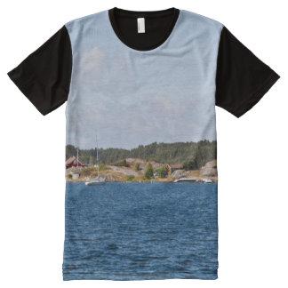 Idyllic coast landscape All-Over print t-shirt