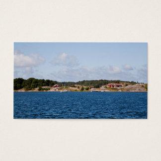 Idyllic coast landscape business card