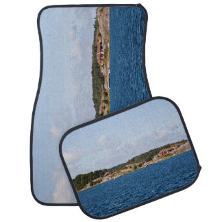 Idyllic coast landscape car mat
