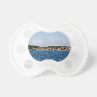 Idyllic coast landscape pacifier