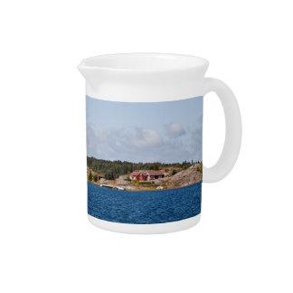Idyllic coast landscape pitcher