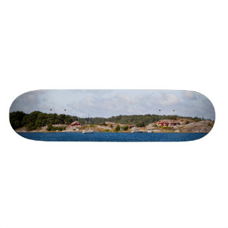Idyllic coast landscape skateboard