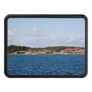 Idyllic coast landscape trailer hitch cover