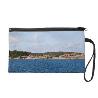 Idyllic coast landscape wristlet purse