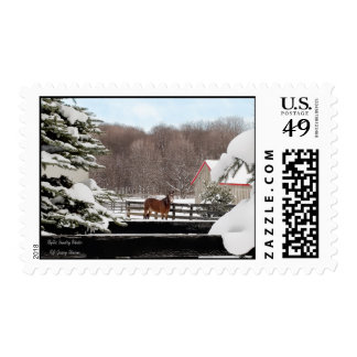 Idyllic Country Winter Postage