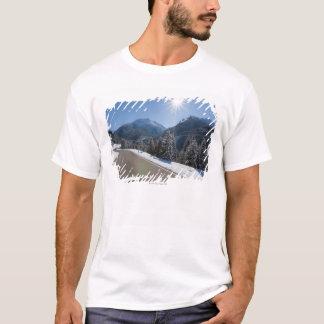Idyllic empty road thrugh a winter landscape, 2 T-Shirt